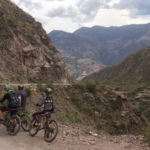 Peru Mountain Biking, Three bikers on Inca Legends Biking Tour