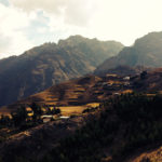 Scenery on our Peru Biking Tours with mountains and mtb trails