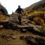 Technical mountain biking in cusco peru on Inca Bike trail